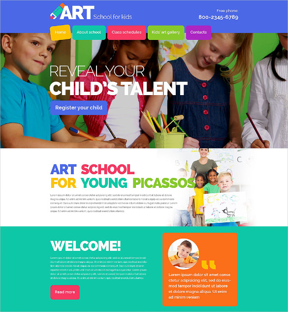 School class web site template (75) Website templates
