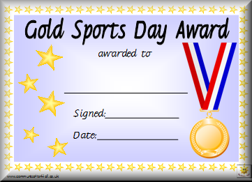 Printable Sports Award Certificates Template | Ideas for the House