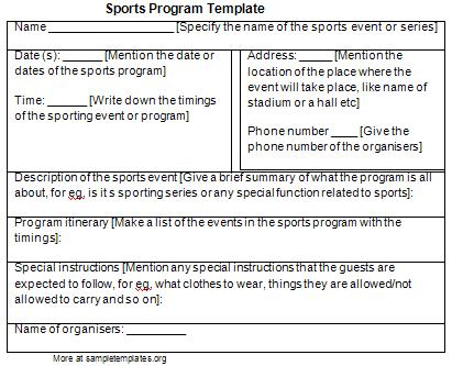 sports program templates Londa.britishcollege.co