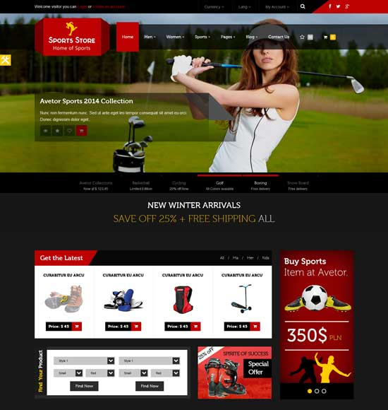30+ Sports Website Themes & Templates | Free & Premium Templates