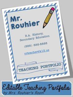 EDITABLE Teaching Portfolio Template (multicolor) | Teaching