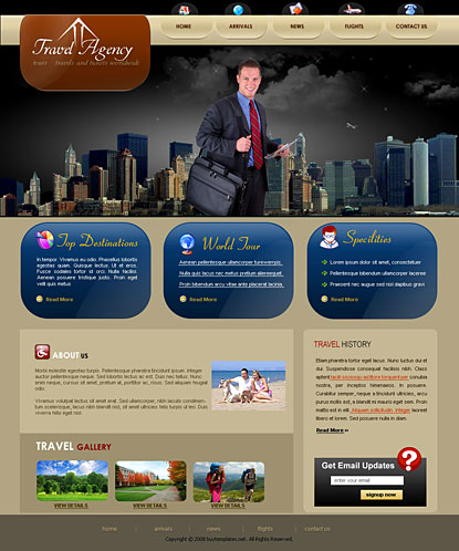 free asp.template asp mvc css templates for travel agency