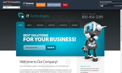 Eight foreign Free download HTML page template Website templates