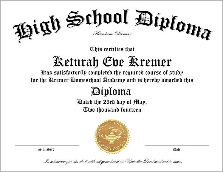 High School Diploma Wording 25 High School Diploma Templates Free