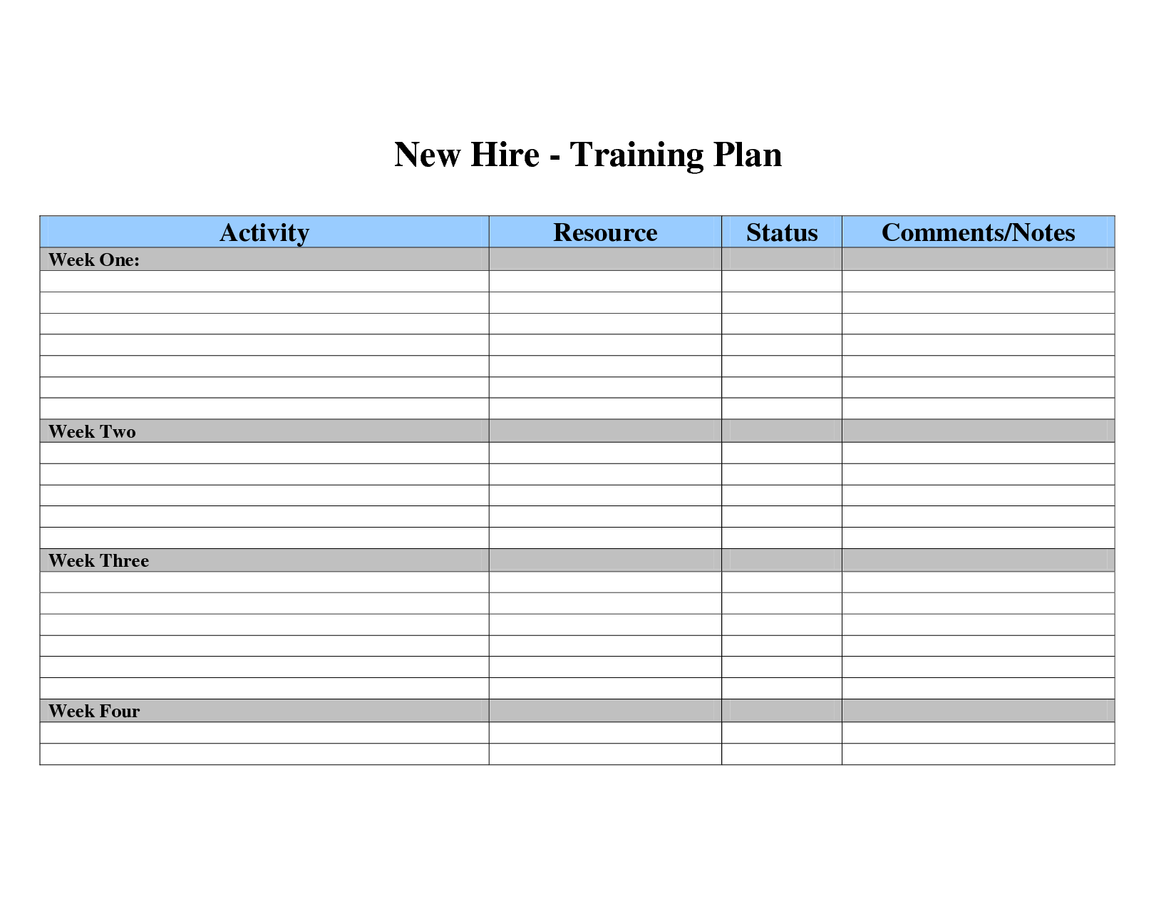 29 Images of New Hire Training Plan Template | leseriail.com