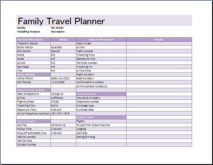 trip schedule planner
