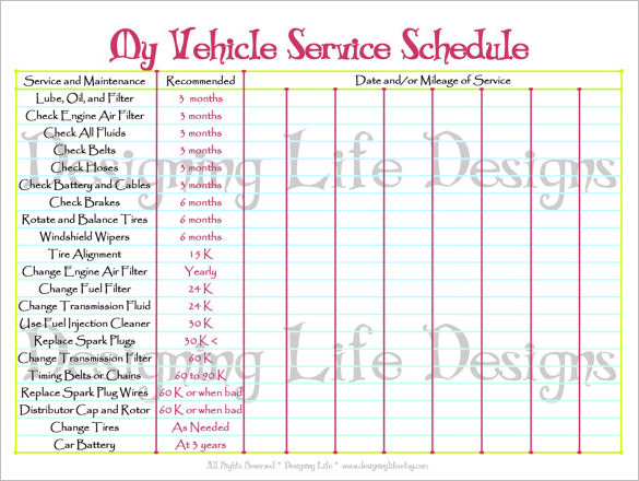 28 Images of Vehicle Preventive Maintenance Template Excel