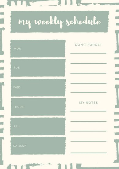 Customize 21+ Weekly Schedule Planner templates online Canva