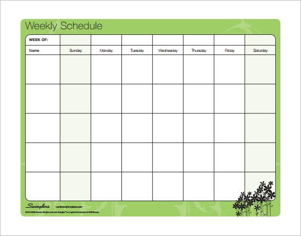schedule formats free Londa.britishcollege.co