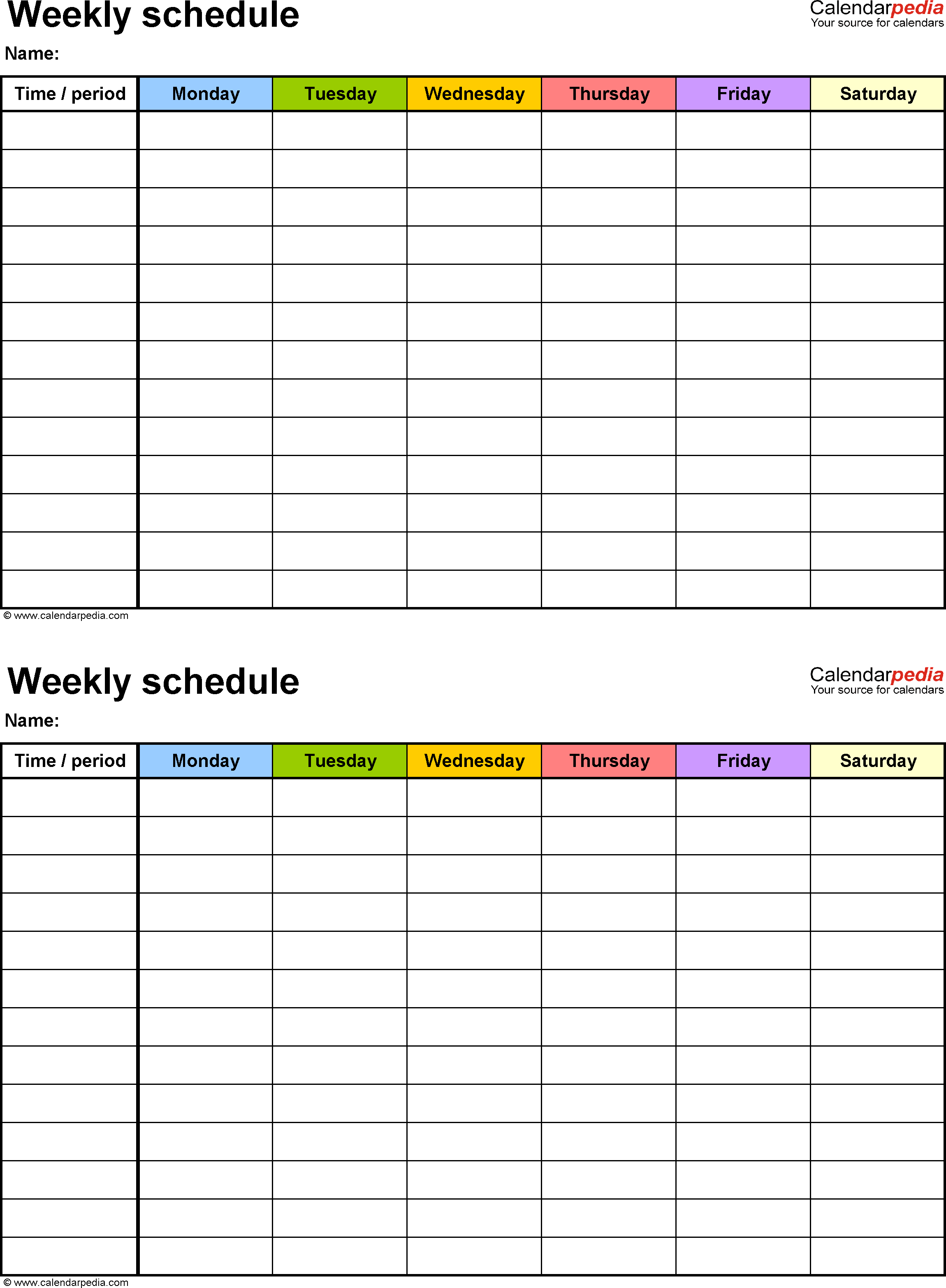 the weekly schedule Londa.britishcollege.co