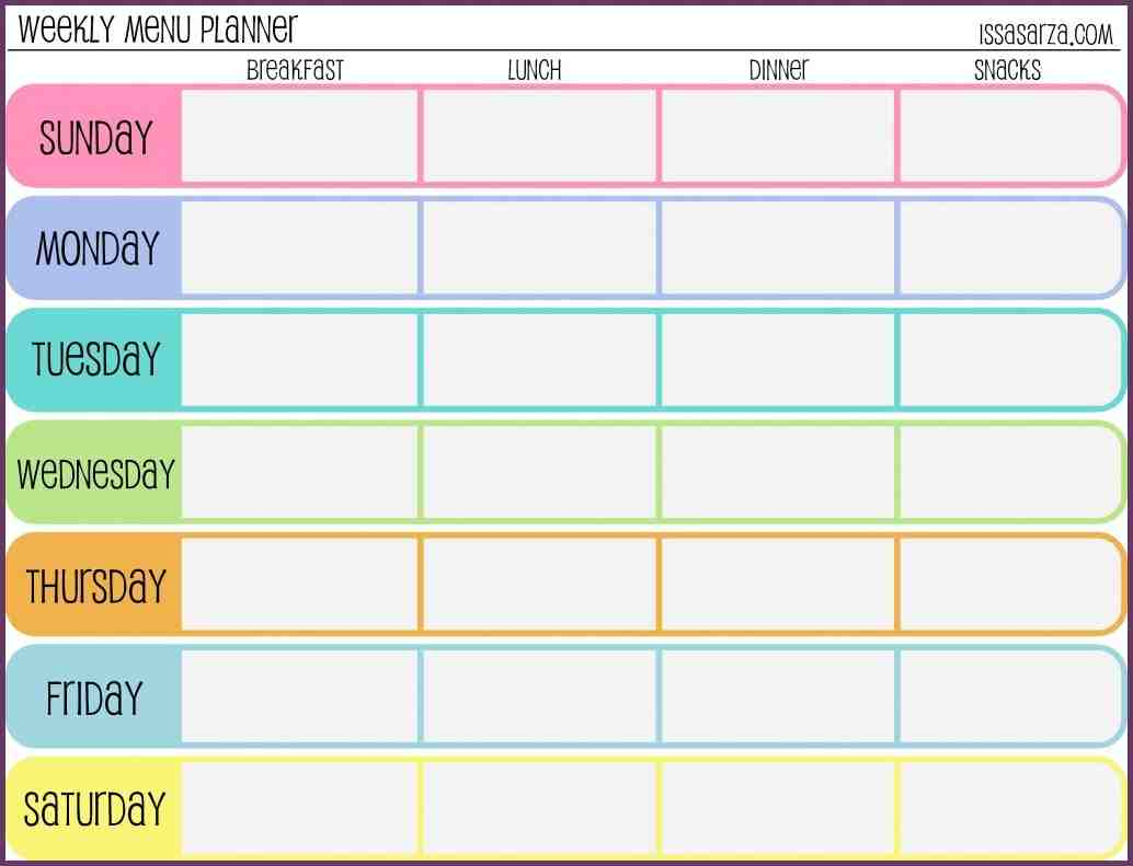 weekly training schedule template | weeklyplanner.website