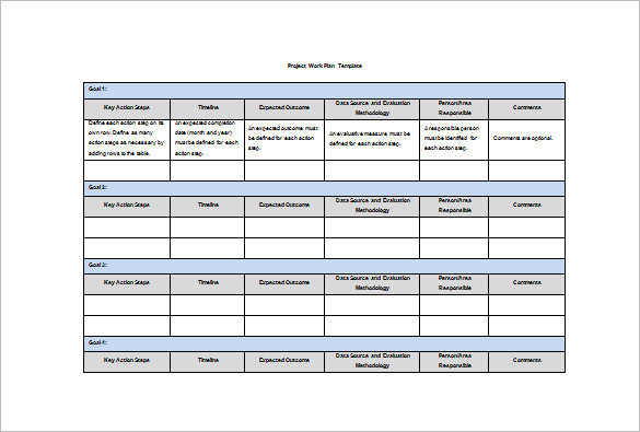 Work Plan Template 14+ Free Word, PDF Documents Download | Free