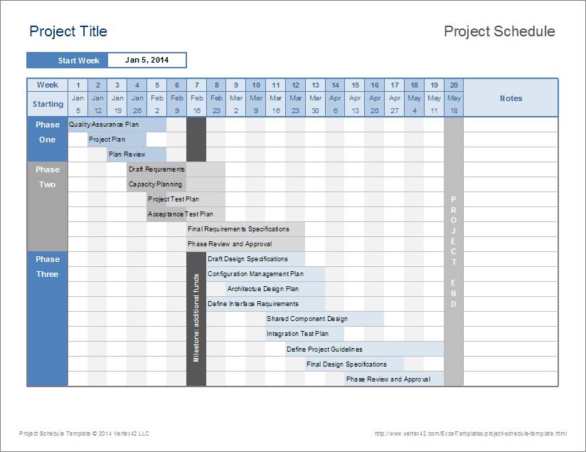 Schedule Template