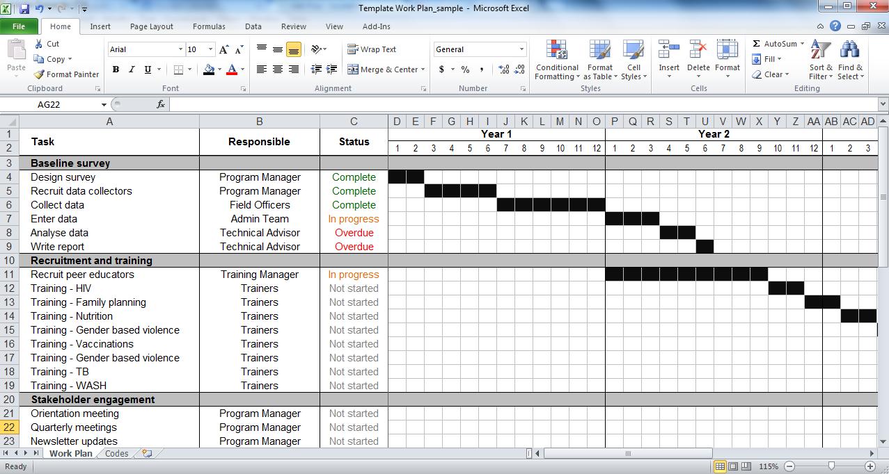 Work plan template | tools4dev